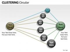 Sales Diagram Clustering Circular Ppt Business Diagram
