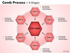 Sales Diagram Comb Process 6 Stages PowerPoint Slides 10 Consulting Diagram