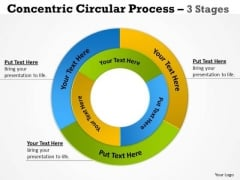 Sales Diagram Concentric Circular Process 3 Stages 10 Strategy Diagram