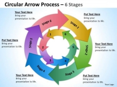 Sales Diagram Concentric Process 6 Stages 6 Strategy Diagram