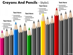 Sales Diagram Crayons And Pencils Style 1 Business Finance Strategy Development
