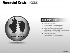 Sales Diagram Financial Crisis Icons Strategic Management