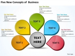 Sales Diagram Five New Concepts Of Business 14 Marketing Diagram