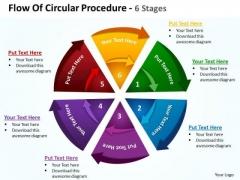 Sales Diagram Flow Of Circular Procedure 6 Stages 8 Strategy Diagram