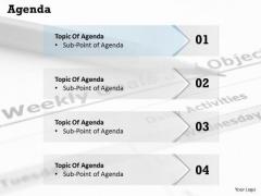 Sales Diagram Four Steps Of Agenda Topic Display Consulting Diagram
