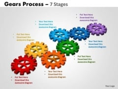 Sales Diagram Gears Process 7 Stages Business Cycle Diagram