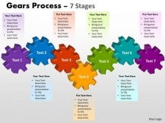 Sales Diagram Gears Process 7 Stages Business Finance Strategy Development