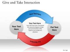 Sales Diagram Give And Take Interaction Slides Marketing Diagram