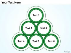 Sales Diagram Green Your Text Here Business Framework Model