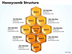 Sales Diagram Honeycomb Structure Business Cycle Diagram