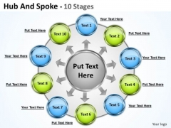 Sales Diagram Hub And Spoke 10 Stages Marketing Diagram