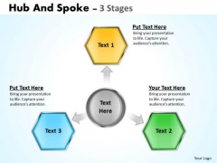 Sales Diagram Hub And Spoke 3 Stages Business Diagram
