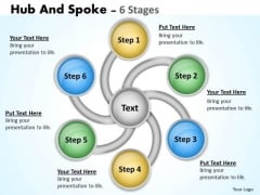 Sales Diagram Hub And Spoke 6 Stages Business Diagram