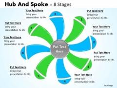 Sales Diagram Hub And Spoke 8 Stages Marketing Diagram