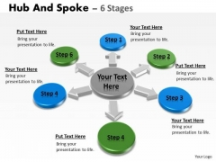 Sales Diagram Hub And Spoke Stages Consulting Diagram