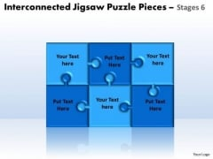 Sales Diagram Interconnected Jigsaw Puzzle Pieces Stages 6 Consulting Diagram