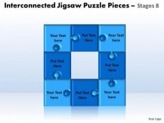 Sales Diagram Interconnected Jigsaw Puzzle Pieces Stages 8 Consulting Diagram