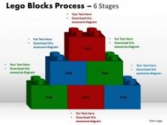 Sales Diagram Lego Blocks Process 6 Stages Business Diagram