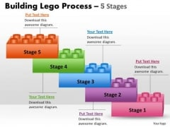 Sales Diagram Lego Blocks Process Stages 5 Business Diagram