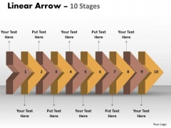 Sales Diagram Linear Arrow 10 Stages Consulting Diagram