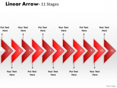 Sales Diagram Linear Arrow 11 Stages Consulting Diagram
