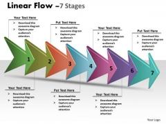 Sales Diagram Linear Arrow Process 7 Stages Marketing Diagram