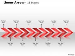 Sales Diagram Linear Arrows 11 Stages Marketing Diagram