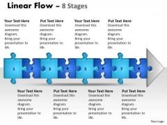 Sales Diagram Linear Flow 8 Stages Strategic Management