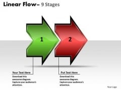 Sales Diagram Linear Flow Arrow 2 Stages