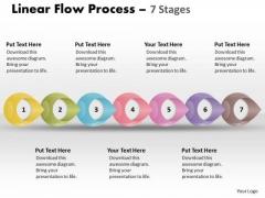 Sales Diagram Linear Flow Process 7 Stages Marketing Diagram