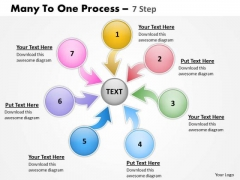 Sales Diagram Many To One Process 7 Step Strategy Diagram