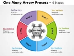 Sales Diagram One Many Arrow Process 6 Stages Business Cycle Diagram