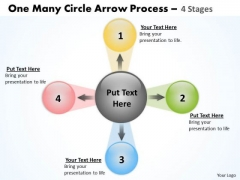 Sales Diagram One Many Circle Arrow Process 4 Stages Strategic Management