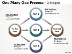Sales Diagram One Many One Process 3 Stages Business Diagram
