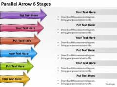 Sales Diagram Parallel Arrow 6 Stages Mba Models And Frameworks