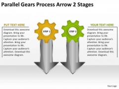Sales Diagram Parallel Gears Process Arrow 2 Stages Consulting Diagram