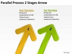 Sales Diagram Parallel Process 2 Stages Arrow Strategic Management
