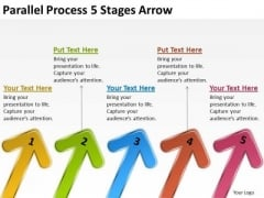 Sales Diagram Parallel Process 5 Stages Arrow Marketing Diagram