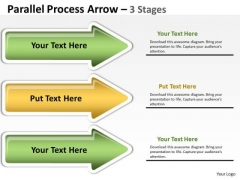 Sales Diagram Parallel Process Arrow 3 Stages Consulting Diagram