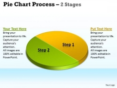 Sales Diagram Pie Chart Process 2 Stages Business Framework Model