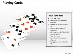 Sales Diagram Playing Cards Business Framework Model
