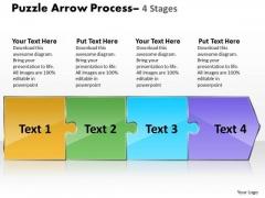 Sales Diagram Puzzle 4 Stages Business Framework Model