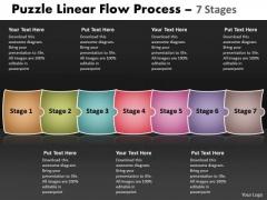 Sales Diagram Puzzle Linear Flow Process 7 Stages Business Diagram