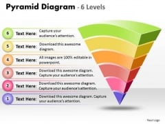 Sales Diagram Pyramid Diagram 6 Levels Of Process Control Marketing Diagram