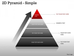 Sales Diagram Pyramid Simple Design With 4 Stages Business Consulting Diagram