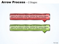 Sales Diagram Rectangle Arrow 2 Steps Strategy Diagram