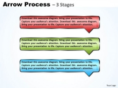 Sales Diagram Rectangle Arrow Business 3 Steps Strategy Diagram