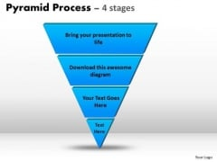 Sales Diagram Reverse 4 Staged Triangle For Sales Process Strategy Diagram
