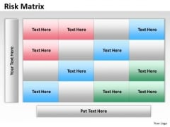 Sales Diagram Risk Matrix Dummy Strategy Diagram