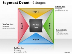 Sales Diagram Segment Donut 4 Stages Strategy Diagram